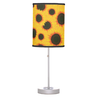 Spring colorful pattern sunflower table lamp