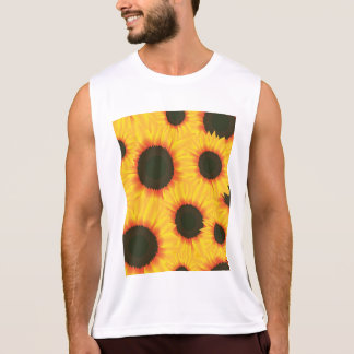 Spring colorful pattern sunflower tank top