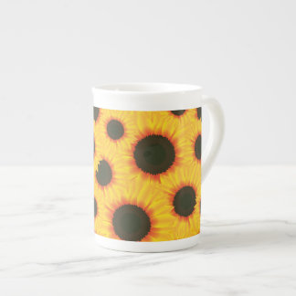 Spring colorful pattern sunflower tea cup