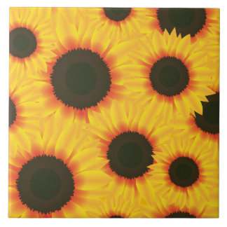 Spring colorful pattern sunflower tile