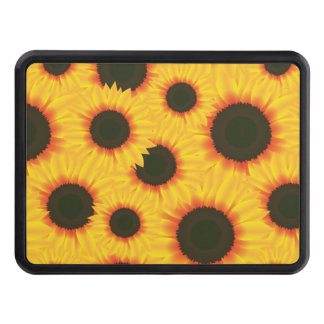 Spring colorful pattern sunflower trailer hitch covers