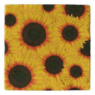 Spring colorful pattern sunflower trivet