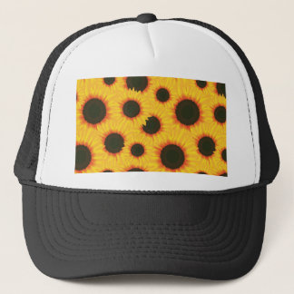 Spring colorful pattern sunflower trucker hat