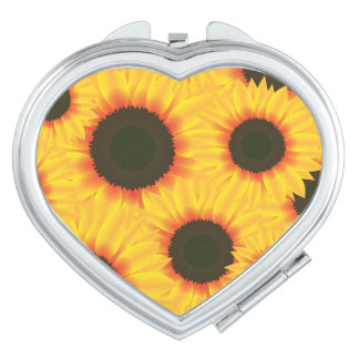 Spring colorful pattern sunflower vanity mirror