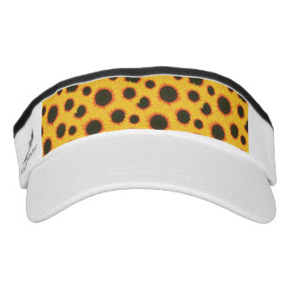 Spring colorful pattern sunflower visor