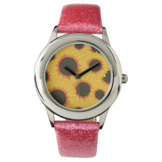Spring colorful pattern sunflower watches