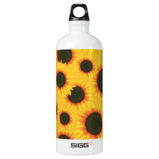 Spring colorful pattern sunflower water bottle