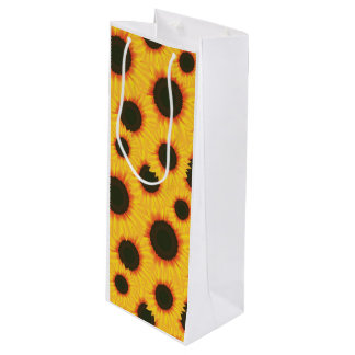 Spring colorful pattern sunflower wine gift bag