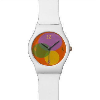 Spring Colors Geometric Neon Abstract Modern Chic Watch