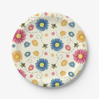 Spring Colors Paper Plate