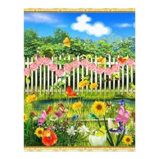 spring cottage garden letterhead