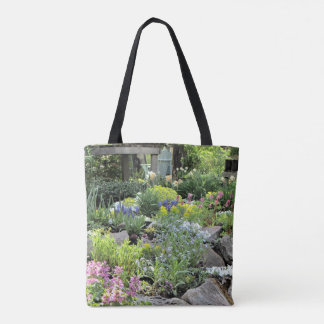 Spring Cottage Rock Garden Tote Bag