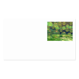 Spring Creation – Green & Gold Renewal Double-Sided Standard Business Cards (Pack Of 100)