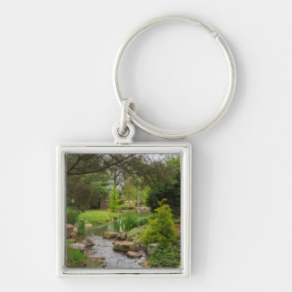 Spring Creek Beauty Silver-Colored Square Keychain