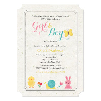 Spring Critters Invitation
