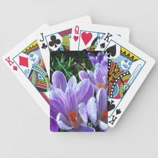 Spring Crocus Purple Poker Deck