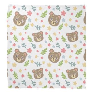 Spring Cute Bear Head Kerchiefs