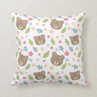 Spring Cute Bear Throw Pillow
