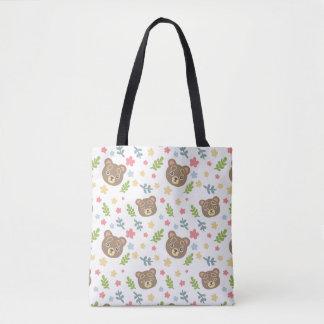 Spring Cute Bear Tote Bag