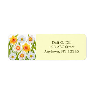 Spring Daffodil Garden Customizable Return Address Label