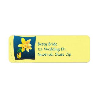 spring daffodil return address return address label
