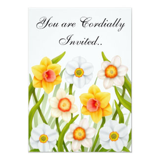 Spring Daffodils Birthday Party Invitation