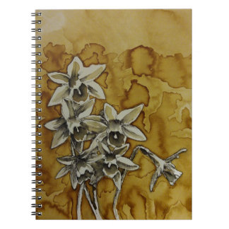 spring daffodils coffee sketch note book