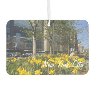 Spring Daffodils Columbus Circle New York City NYC Car Air Freshener