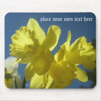 Spring daffodils garden customizable mousepad