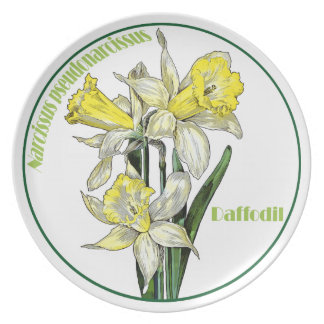 Spring Daffodils Plate