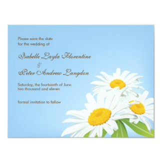 Spring Daisies Save the Date Wedding Card