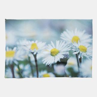 Spring daisy flower kitchen towel
