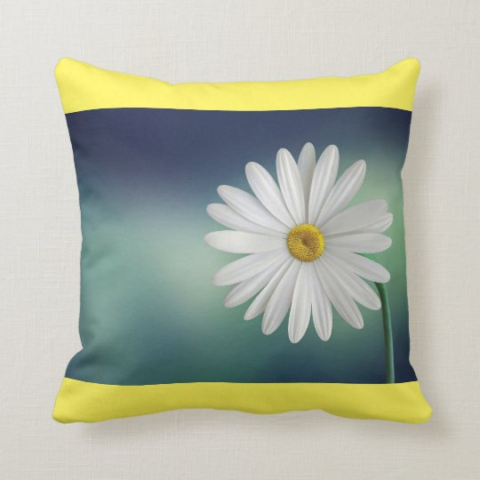 Spring Daisy Pillow-Yellow Throw Pillow