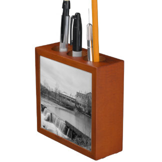 Spring Day At Ozark Mill Grayscale Desk Organizer