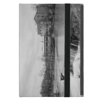 Spring Day At Ozark Mill Grayscale iPad Mini Case