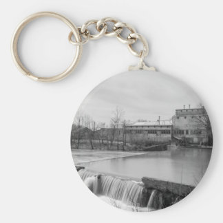 Spring Day At Ozark Mill Grayscale Keychain