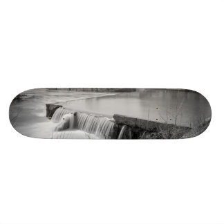 Spring Day At Ozark Mill Grayscale Skate Board Deck