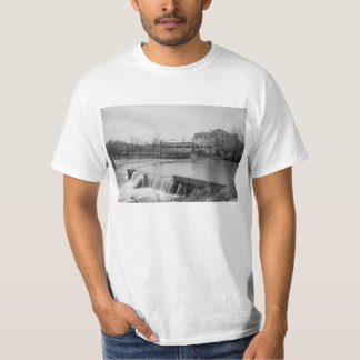Spring Day At Ozark Mill Grayscale T-Shirt
