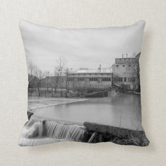 Spring Day At Ozark Mill Grayscale Throw Pillow