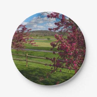 Spring Day In Rivercut Paper Plate