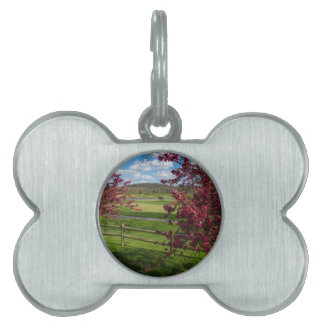 Spring Day In Rivercut Pet Name Tag