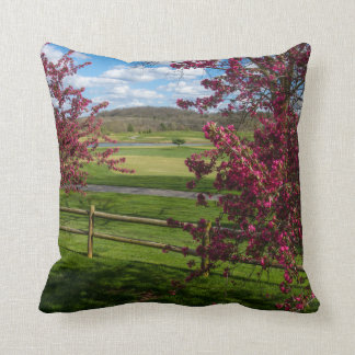 Spring Day In Rivercut Throw Pillow