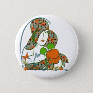 Spring Deco Diva 2 Inch Round Button