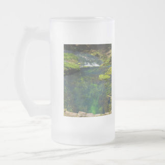 Spring Deep Frosted Glass Beer Mug
