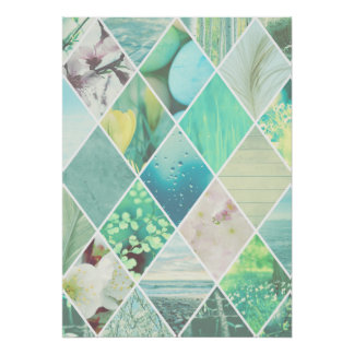 Spring Diamond Pattern Poster