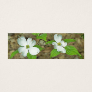 Spring Dogwood Mini Business Card