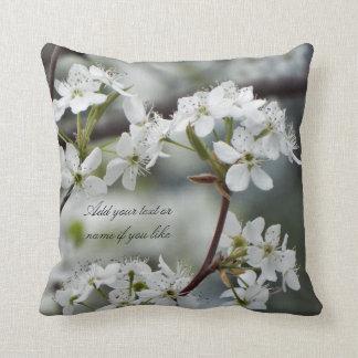 Spring dogwood pillow custom text