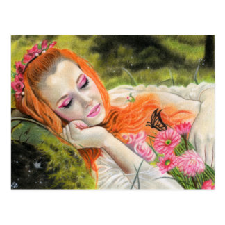 Spring dream beauty postcard