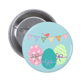 Spring Easter Colorful Festive Floral 2 Inch Round Button