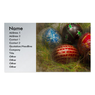 Spring - Easter - Easter Eggs Business Card Templates